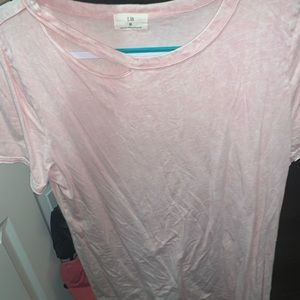 Pink mineral washed tee